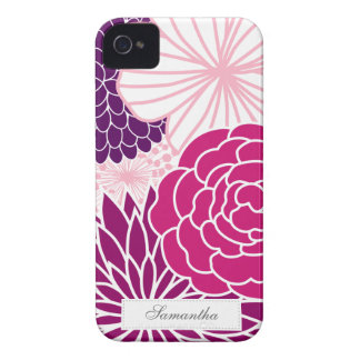 Pink and Purple Mod Floral iPhone 4 Cover