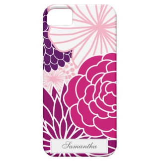 Pink and Purple Mod Floral iPhone SE/5/5s Case