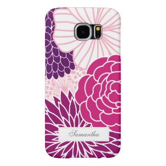 Pink and Purple Mod Floral Samsung Galaxy S6 Case