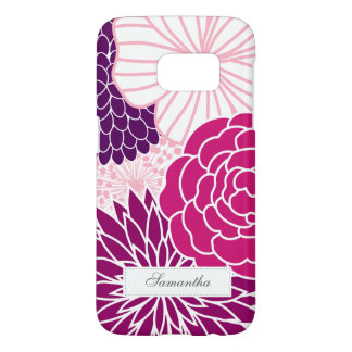 Pink and Purple Mod Floral Samsung Galaxy S7 Case