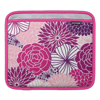 Pink and Purple Mod Floral Sleeve For iPads