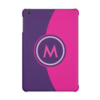 Pink and Purple Monogram iPad Mini Retina Case