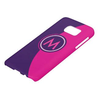 Pink and Purple Monogram Samsung Galaxy S7 Case