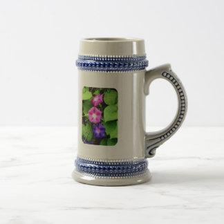 Pink and Purple Morning Glories Coffee Mugs