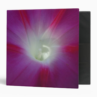 Pink and Purple Morning Glory 3 Ring Binder