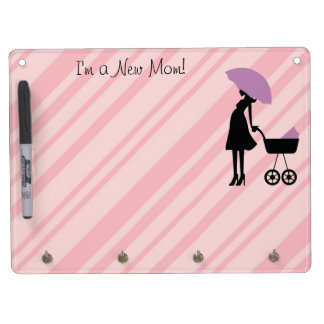 Pink and Purple New Mom Reminder Dry Erase Board