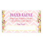 Pink and Purple Owls - Diaper Raffle Ticket Business Card