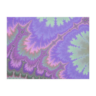 Pink And Purple Paisley Canvas Print