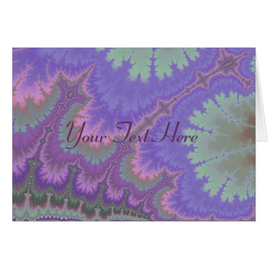Pink And Purple Paisley Card