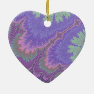 Pink And Purple Paisley Ceramic Ornament