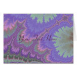 Pink And Purple Paisley Greeting Card