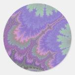 Pink And Purple Paisley Round Sticker