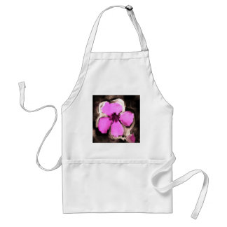 Pink and Purple Pansy Adult Apron
