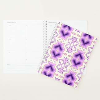 Pink and purple pattern with chevron elements. planner