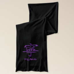 Pink and Purple Peace and Joy Scarf