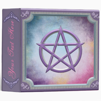 Pink and Purple Pentacle Book Of Shadows 3 Ring Binder