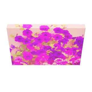 Pink and Purple Petunias Canvas Print
