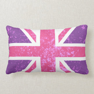 Pink and Purple Phone Booth Decorative Pillow