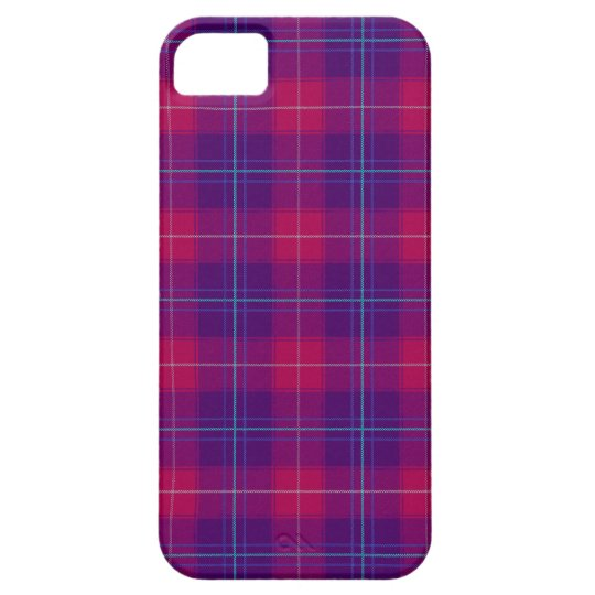 Pink and Purple Plaid Tartan Pattern Iphone 5 Case