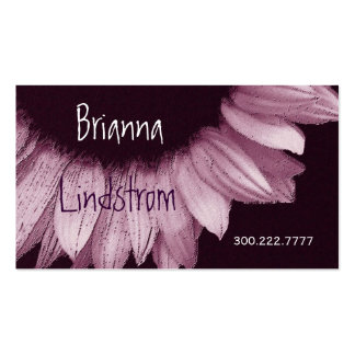 Pink and Purple Plum Sunflower Business Card Templates