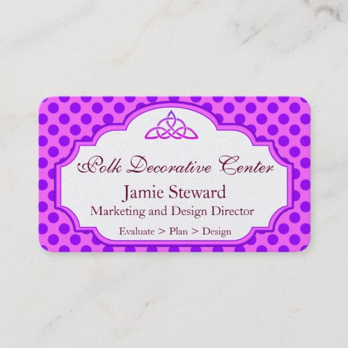 Pink and Purple Polka Dot Background, Fancy Mould