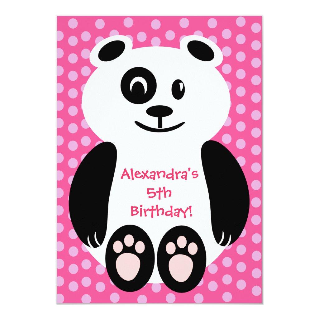 Pink and Purple Polka Dot Panda Birthday Party