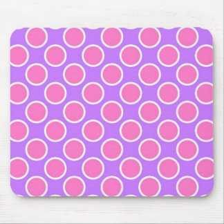 Pink and Purple Polka Dots Mouse Pad