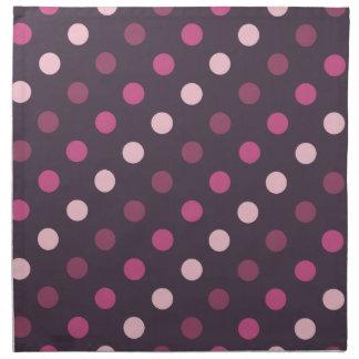 Pink and Purple Polka Dots Cloth Napkin