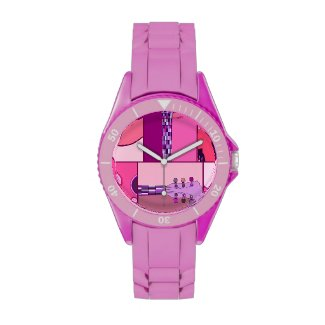 Pink and Purple Pop Art Guitar Music Design Wristwatches