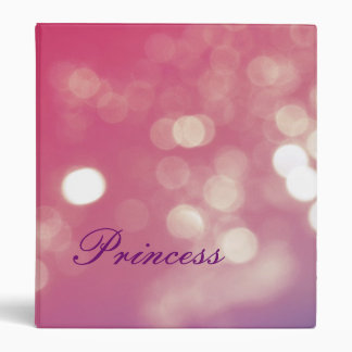 Pink and purple princess sparkle school binder