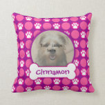 """Pink and Purple """"Puppy"""" Dots Photo Template Pillows"""