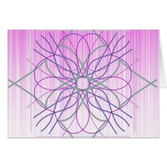 Pink And Purple Random Design card