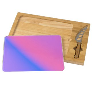 Pink and Purple Rectangular Cheese Board