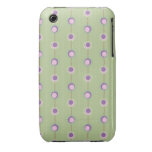 Pink and Purple Retro Circles iPhone 3 Case-Mate Cases