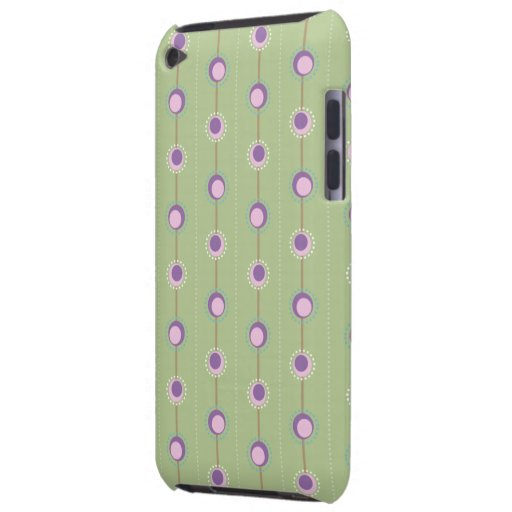 Pink and Purple Retro Circles iPod Touch Covers