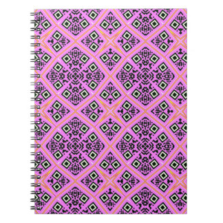 Pink and Purple Retro Spiral Note Book