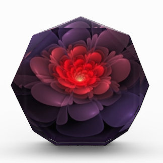 Pink and Purple Rose Multiple Products Acrylic Award