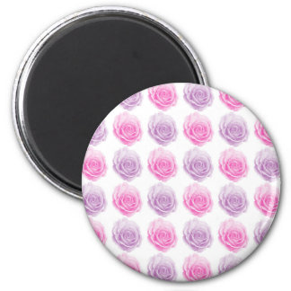 Pink and purple roses floral pattern magnet