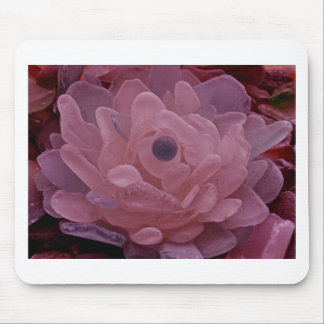 Pink and Purple Sea Glass Flower Mouse Pad