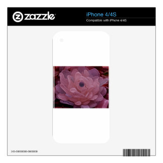 Pink and Purple Sea Glass Flower Decals For iPhone 4
