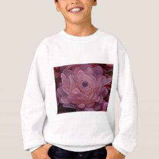 Pink and Purple Sea Glass Flower Sweatshirt