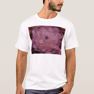 Pink and Purple Sea Glass Flower T-Shirt