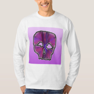 Pink and Purple Skull. T-Shirt