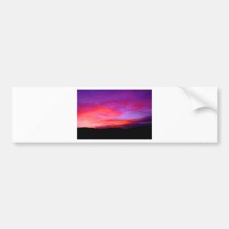 pink and purple sky bumper sticker