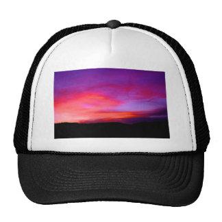 pink and purple sky trucker hats