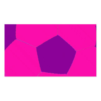 Pink and Purple Soccer Ball Business Card