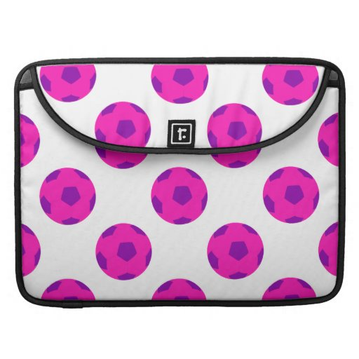 Pink and Purple Soccer Ball Pattern Sleeves For MacBooks