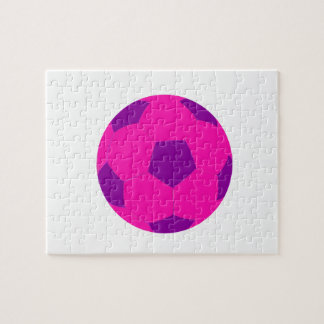Pink and Purple Soccer Ball Jigsaw Puzzles