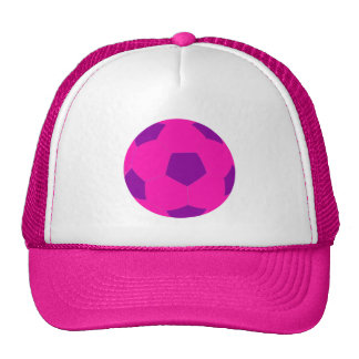 Pink and Purple Soccer Ball Trucker Hat
