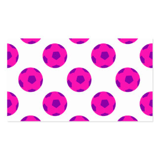 Pink and Purple Soccerball Pattern Business Card